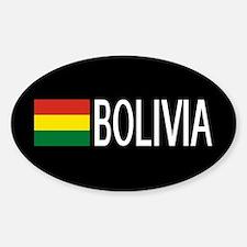 Bolivia: Bolivian Flag & Boliva Sticker (Oval)