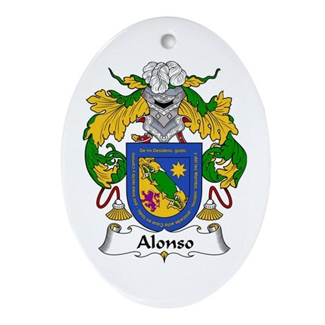Alonso I Oval Ornament
