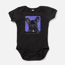 Cute Bulldog art Baby Bodysuit
