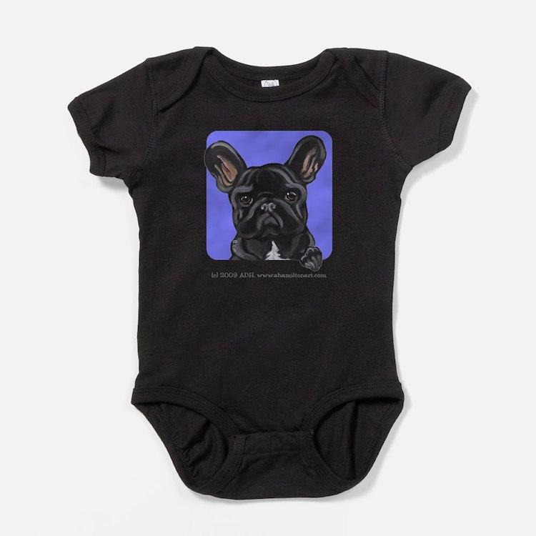 Cute French bulldog lover Baby Bodysuit