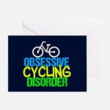 Cool Cycling Neon Greeting Card