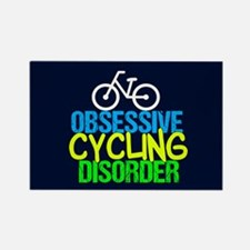 Cool Cycling Neon Rectangle Magnet