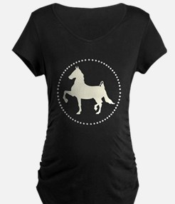 American Saddlebred horse silhouette Maternity T-S