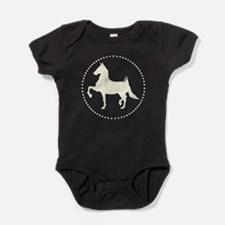 American Saddlebred horse silhouette Baby Bodysuit