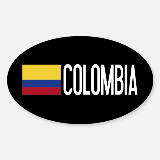 Colombia: Colombian Flag & Colombia Sticker (Oval)