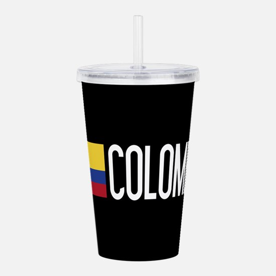 Colombia: Colombian Fl Acrylic Double-wall Tumbler