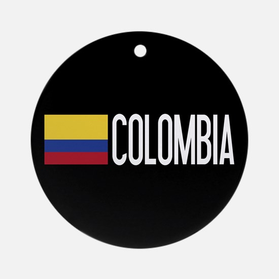 Colombia: Colombian Flag & Colombia Round Ornament