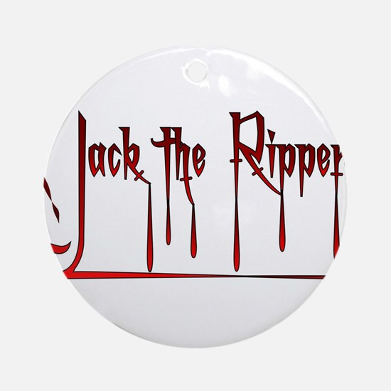 The Ripper Round Ornament