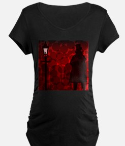 Jack The Ripper Background Maternity T-Shirt