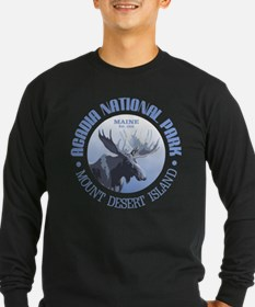 Acadia National Park (moose) Long Sleeve T-Shirt