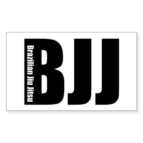 BJJ - Brazilian Jiu Jitsu Rectangle Sticker