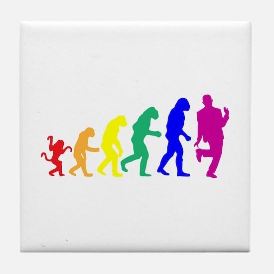 Gay Evolution Tile Coaster