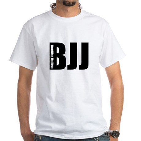 BJJ - Brazilian Jiu Jitsu White T-Shirt