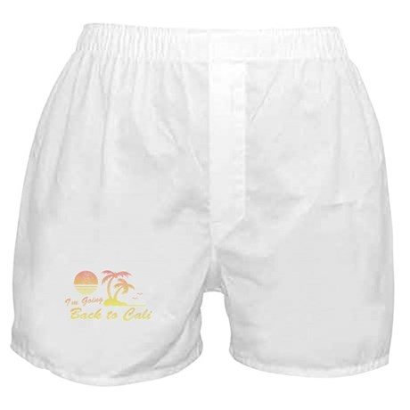 I'm Going Back to Cali Boxer Shorts