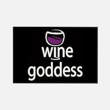 Wine Goddess Rectangle Magnet