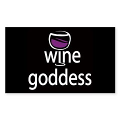 Wine Goddess Rectangle Decal