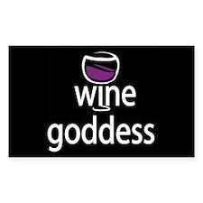 Wine Goddess Rectangle Decal