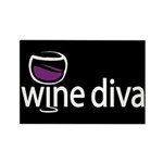 Wine Diva Rectangle Magnet (100 pack)