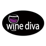 Wine Diva Oval Sticker