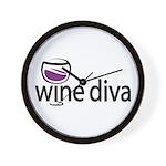 Wine Diva Wall Clock