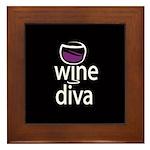 Wine Diva Framed Tile