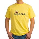Wine Diva Yellow T-Shirt