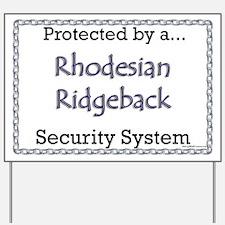 Ridgeback Security  Yard Sign