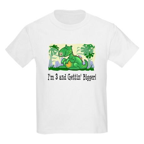 I'm 3 Dinosaur Birthday Kids Light T-Shirt