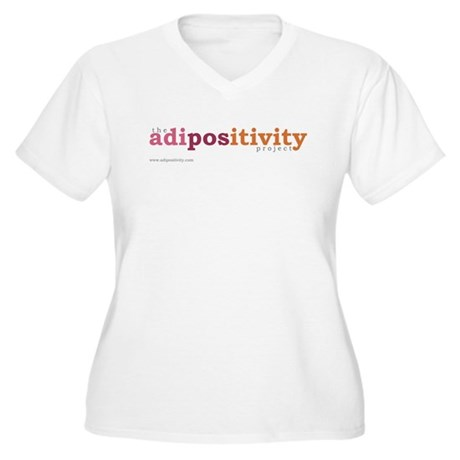 The Adipositivity Project Plus Size V-Neck T-Shirt