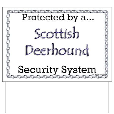 Deerhound Security Yard Sign