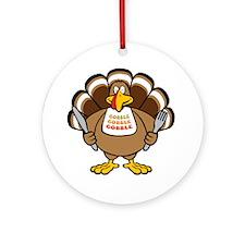 Gobble Turkey Ornament (Round)