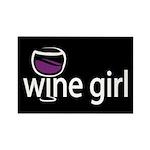 Wine Girl Rectangle Magnet (100 pack)
