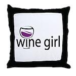 Wine Girl Throw Pillow