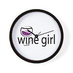 Wine Girl Wall Clock