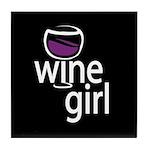 Wine Girl Tile Coaster