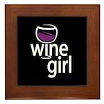 Wine Girl Framed Tile