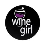 Wine Girl Ornament (Round)