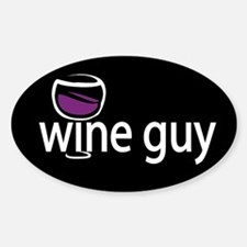 Wine Guy Oval Decal