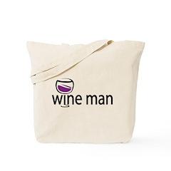 Wine Man Tote Bag