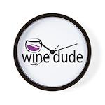 Wine Man Wall Clock