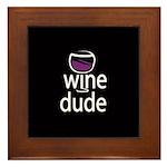 Wine Man Framed Tile