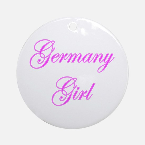Germany Girl Ornament (Round)