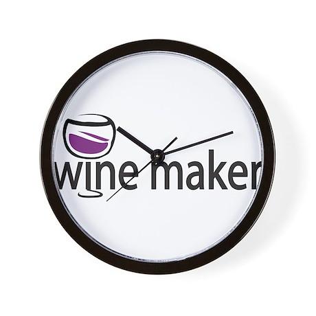 Wine Maker Wall Clock