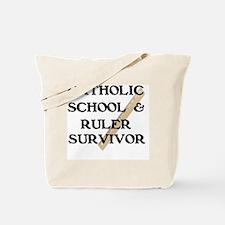 Funny Catholic school Tote Bag