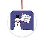 Hillary Clinton Snowman Tree Ornament