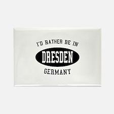 I'd Rather Be in Dresden, Ger Rectangle Magnet (10