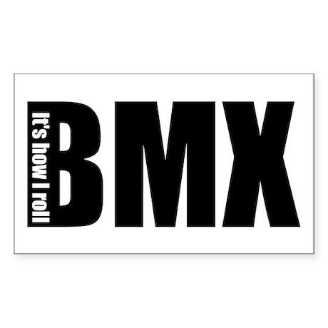 BMX -It's how I roll Rectangle Sticker