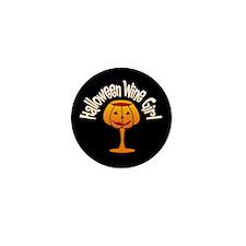 Halloween Wine Girl Mini Button
