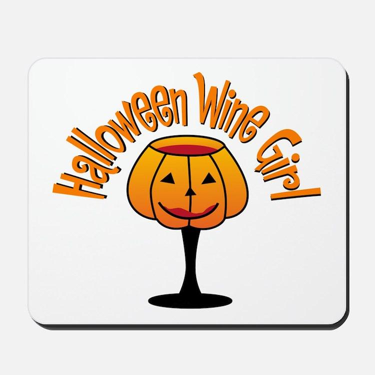 Halloween Wine Girl Mousepad