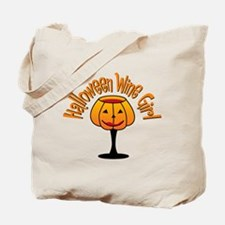 Halloween Wine Girl Tote Bag